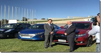 Mitsubishi- CEO- Mutsuhito- Oshikiri-and-AGL- Managing -Director- &-CEO-Andy-Vesey- AGL-vehicle-lobby-group-launch-1
