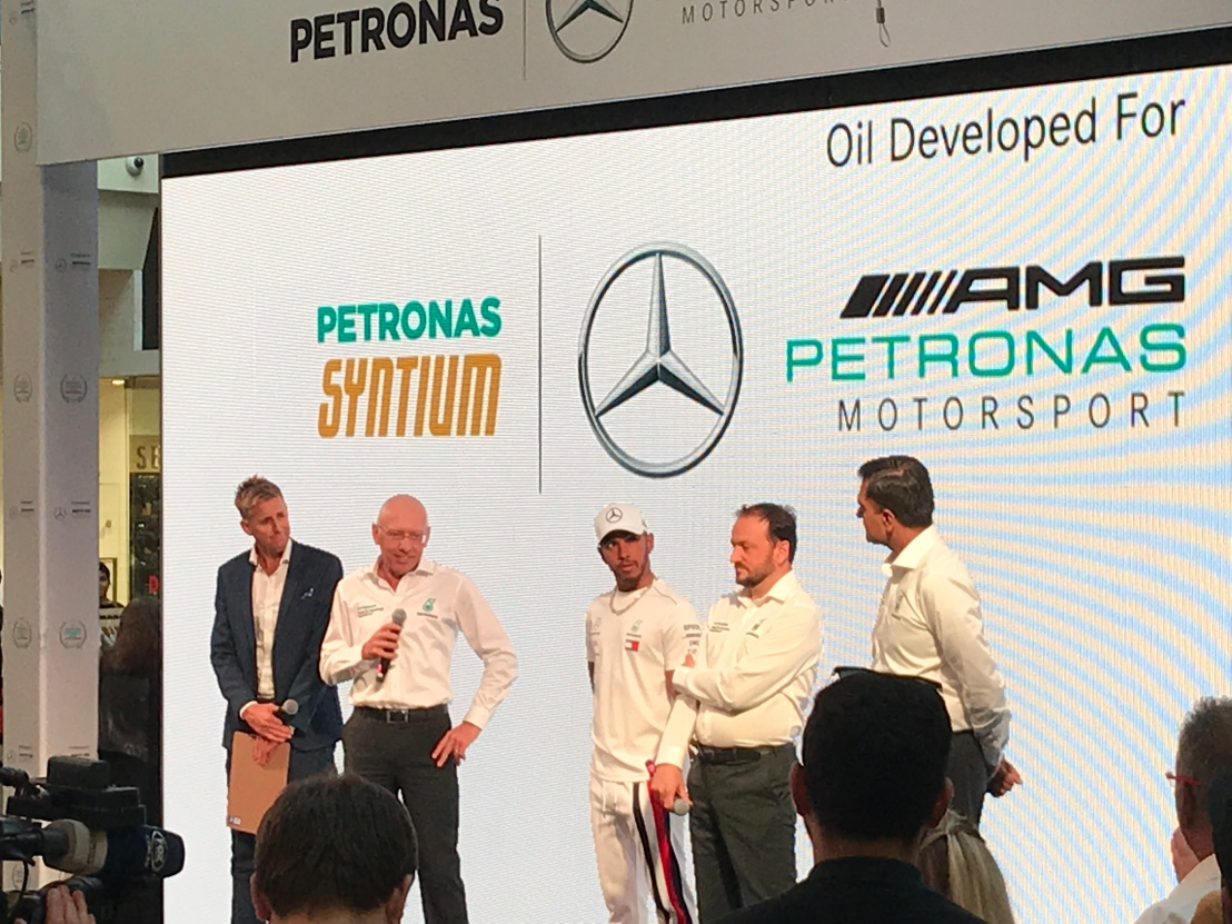 Lewis Hamilton and Petronas Syntium Motor Oil Melbourne