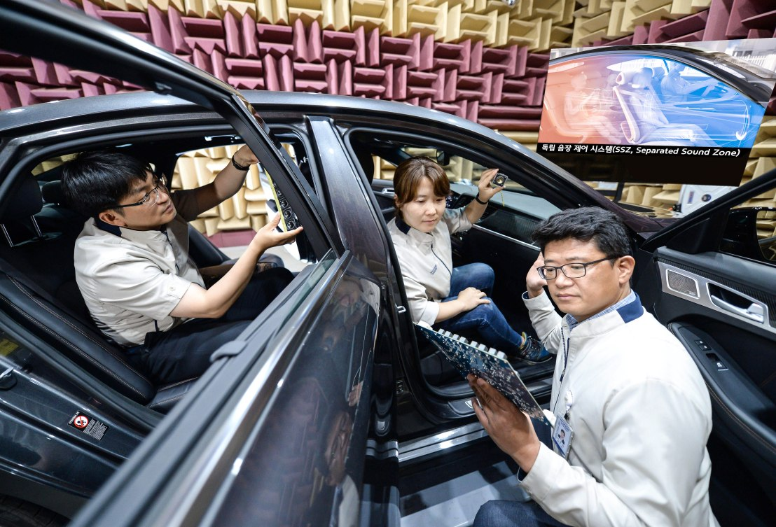 SSZ Kia Hyundai develop individual sound zones