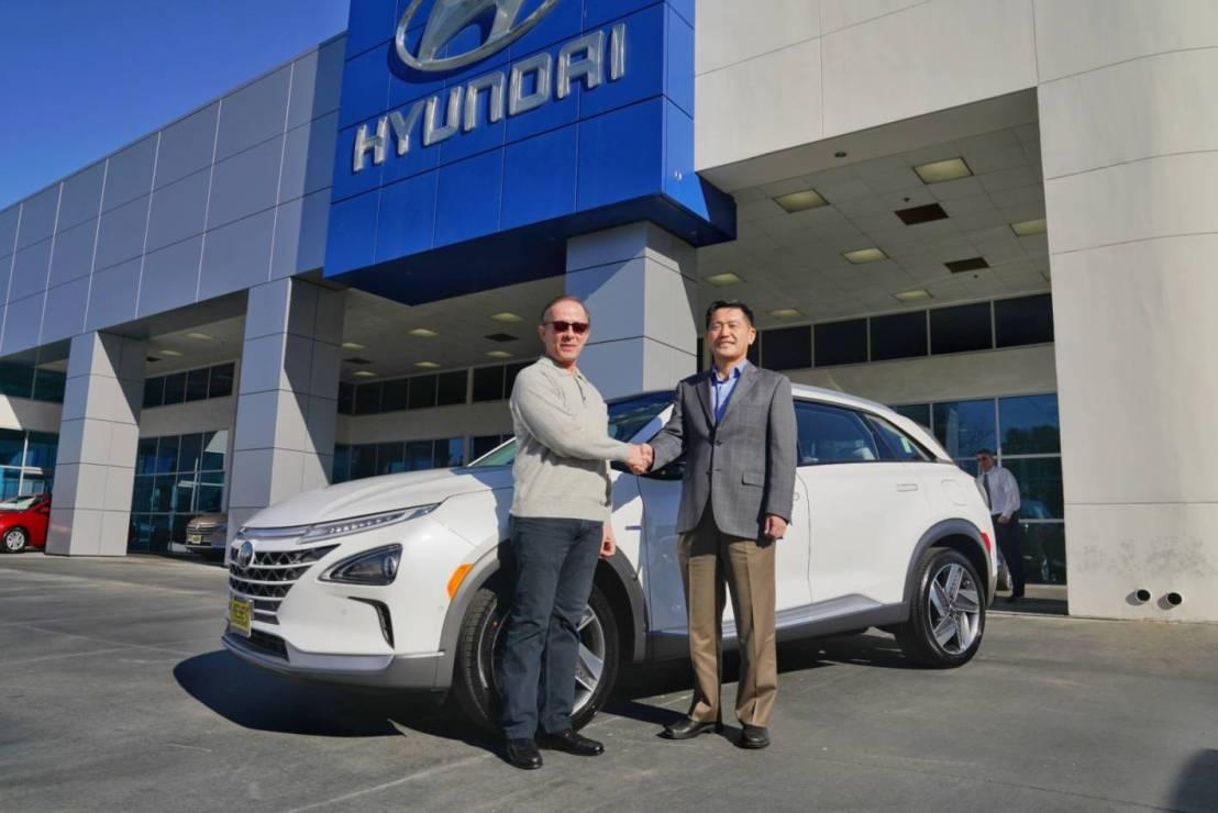 Hyundai's first Hydrogen NEXOdelivery